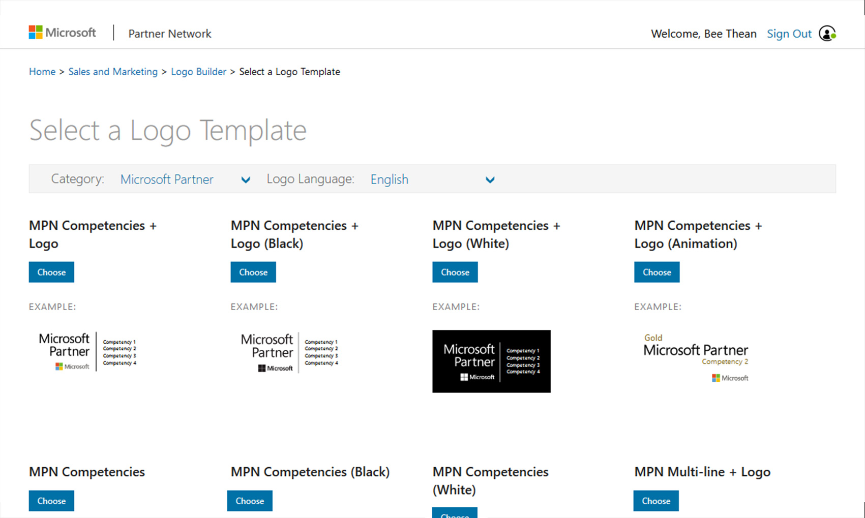Microsoft LogoBuilder