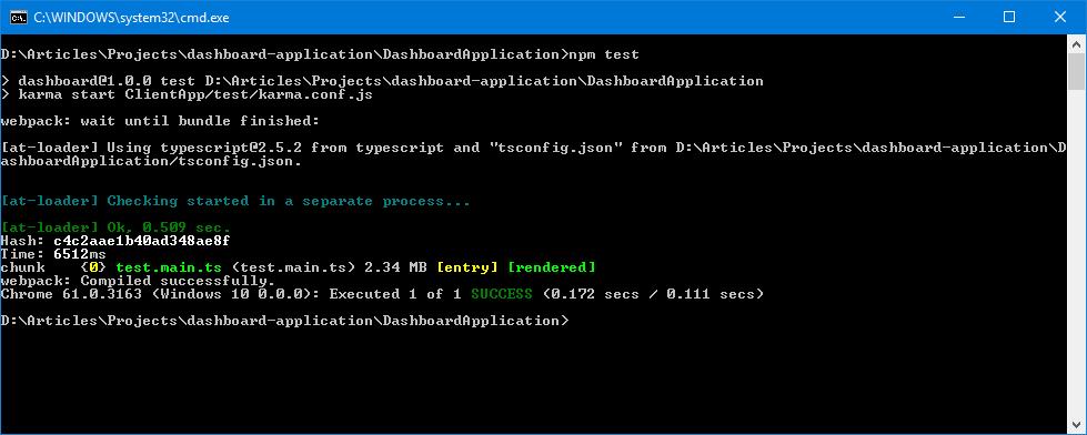 angular tutorial testing npm script