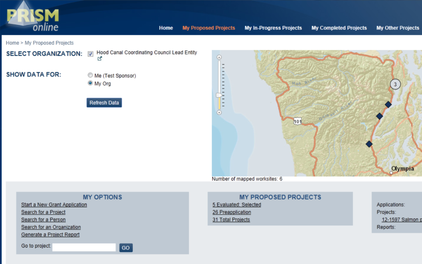 RCO PRISM home page ux ui design overhaul